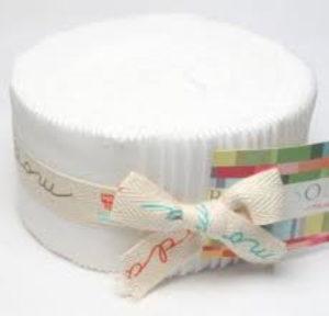 Moda Bella Solid White Jelly Roll