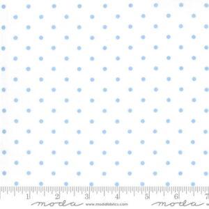 Moda Crystal Lane Snow Dots Blue by Bunny Hill Designs