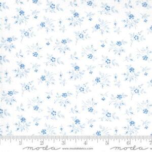 Moda Crystal Lane Winter Rose Blue by Bunny Hill Designs