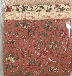 Moda Regency Romance 4 Fat Quarter Pack Pinks by Christopher Wilson Tate