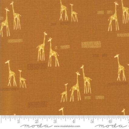Moda Safari Life Childrens Novelty Giraffe life Orange By Stacy Iest Hsu