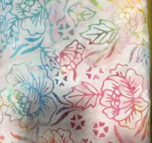 Nutex Artisan Bali Batik Pale Pink Floral