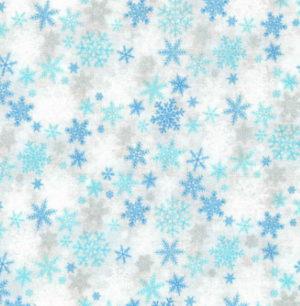 Nutex Christmas Metallic Blue Frost Snowflakes