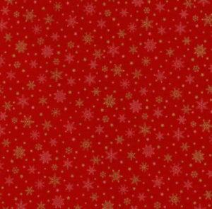 Nutex Christmas Metallic Red Snowflakes
