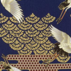 Nutex Japanese kuren Navy Cranes with gold metallic details