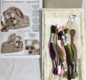 Bunny in the Blackberries sewing bag kit