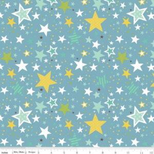Riley Blake Sweet Baby Boy Blue Stars