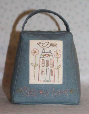 The Birdhouse Sentimental Stitches Doorstop & Fabric Bucket Pattern by Natalie Bird
