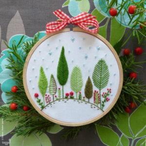 Tamar Nahir Yanai Christmas Forest Circle Embroidery Kit