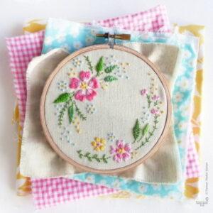 Tamar Nahir Yanai Circle of Flowers Circle Embroidery Kit