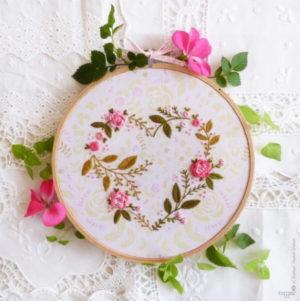 Tamar Nahir Yanai Flower Heart Circle Embroidery Kit