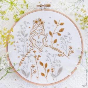 Tamar Nahir Yanai Gold and Grey Princess Embroidery Kit