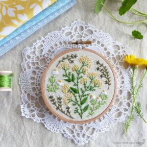 Tamar Nahir Yanai Green Garden Circle Embroidery Kit