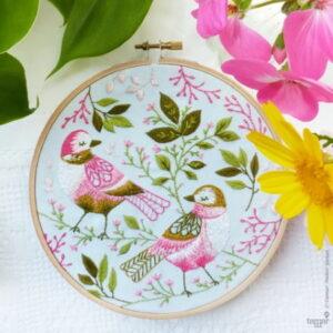 Tamar Nahir Yanai Love Birds Circle Embroidery Kit