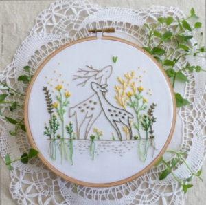 Tamar Nahir Yanai Love Story Circle Embroidery Kit