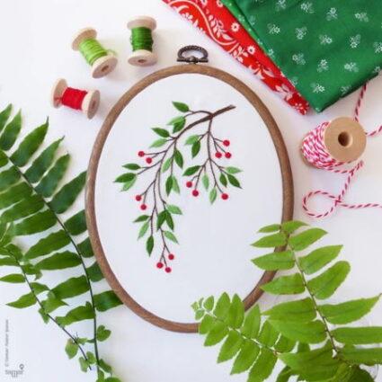 Tamar Nahir Yanai Mistletoe Embroidery Kit