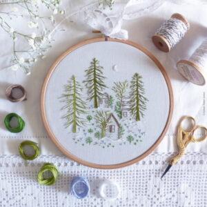 Tamar Nahir Yanai Snowy Night Circle Embroidery Kit