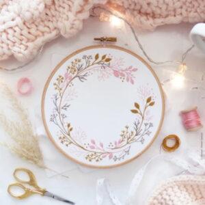 Tamar Nahir Yanai Wildflower Circle Embroidery Kit