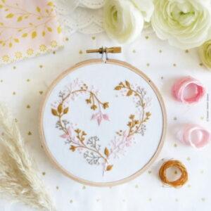 Tamar Nahir Yanai Wildflower Heart Circle Embroidery Kit