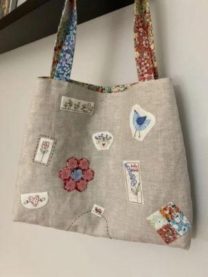 The Birdhouse Maisies Garden Bags Pattern by Natalie Bird