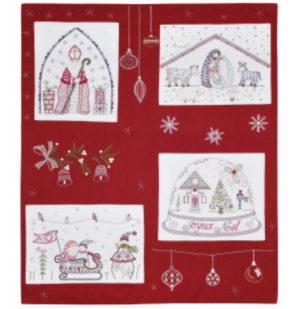 Un Chat dans l'aiguille Quand Noel sen mele Complet Embroidery Kit by Christel Gouze Elbaz