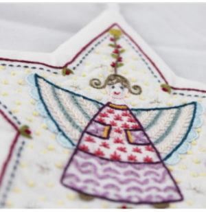 Un Chat dans laiguille Sujet De Noel no2 Angel Decoration by Christel Gouze Elbaz