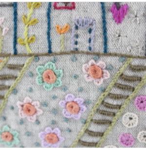 Un Chat dans l'aiguille Trousse Maisons Pouch Embroidery Kit by Christel Gouze Elbaz