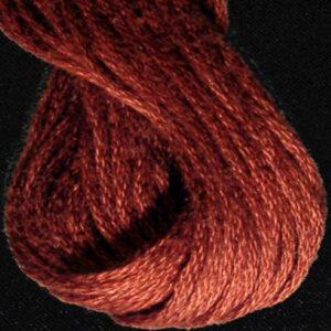 Valdani 6 Ply Embroidery Thread Dark Brick