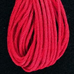 Valdani 6 Ply Floss New Christmas Red