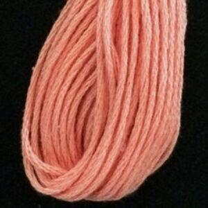 Valdani 6 Ply embroidery Thread Bright Peach Medium