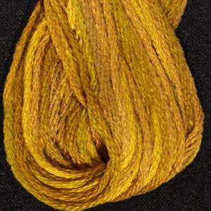 Valdani 6 ply variegated embroidery thread Tarnished Gold Vintage Hues sampler Collection