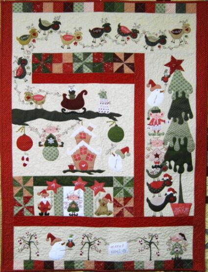fig n Berry Mistletoe Christmas Quilt Pattern