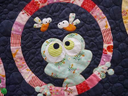 Claire turpin applique frogface applique quilt pattern poppy patch